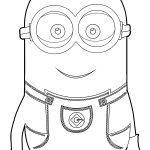 Minion HD HQ Coloring Page
