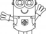Minion Hello Coloring Page