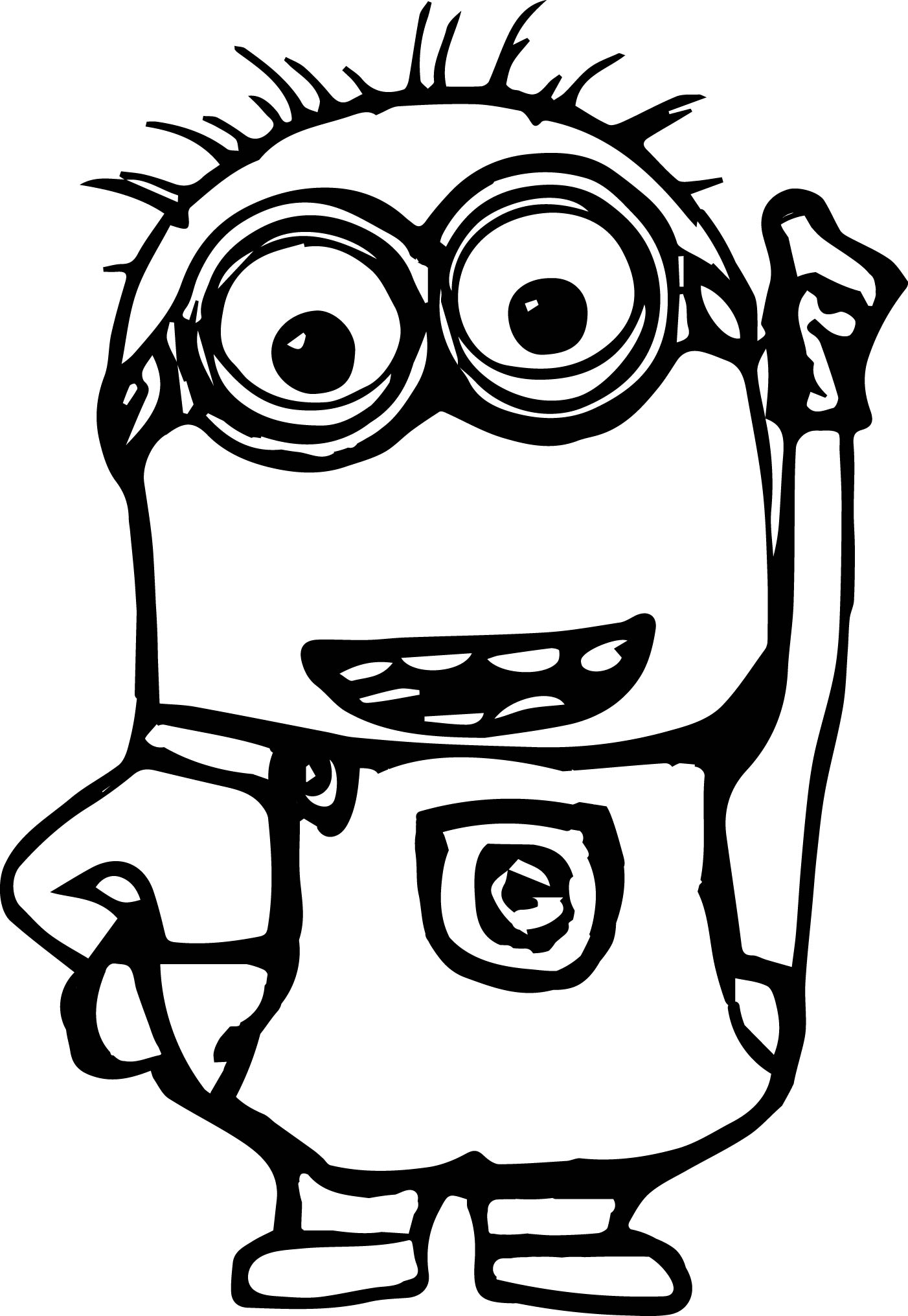 Minion Heyoo Coloring Pages