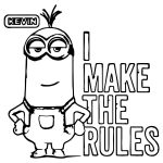 Minion I Make The Rules Kevin Coloring Page