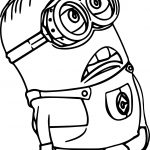 Minion Of Despicable Me Coloring Page