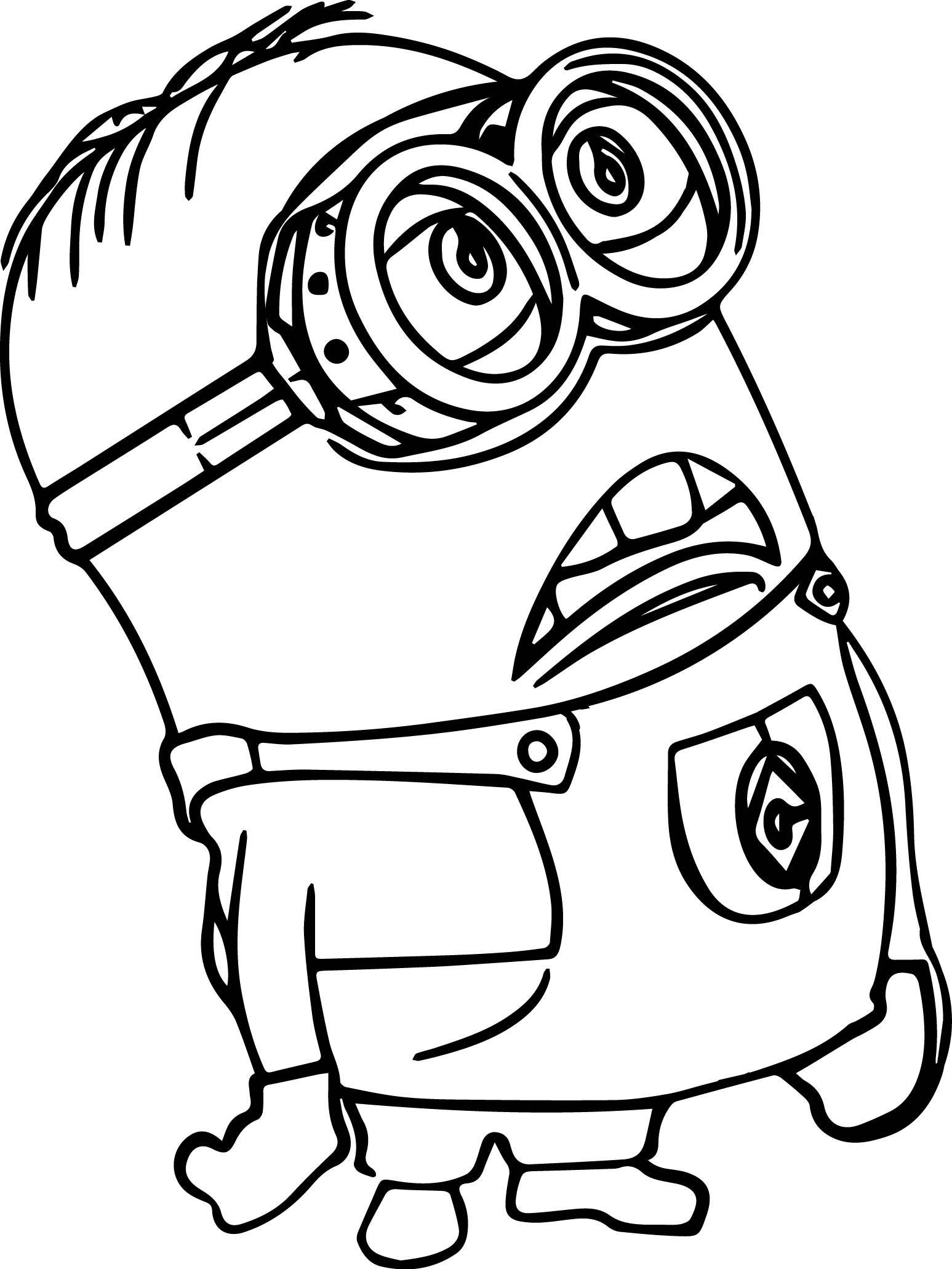 Minion Of Despicable Me Coloring Page Wecoloringpage