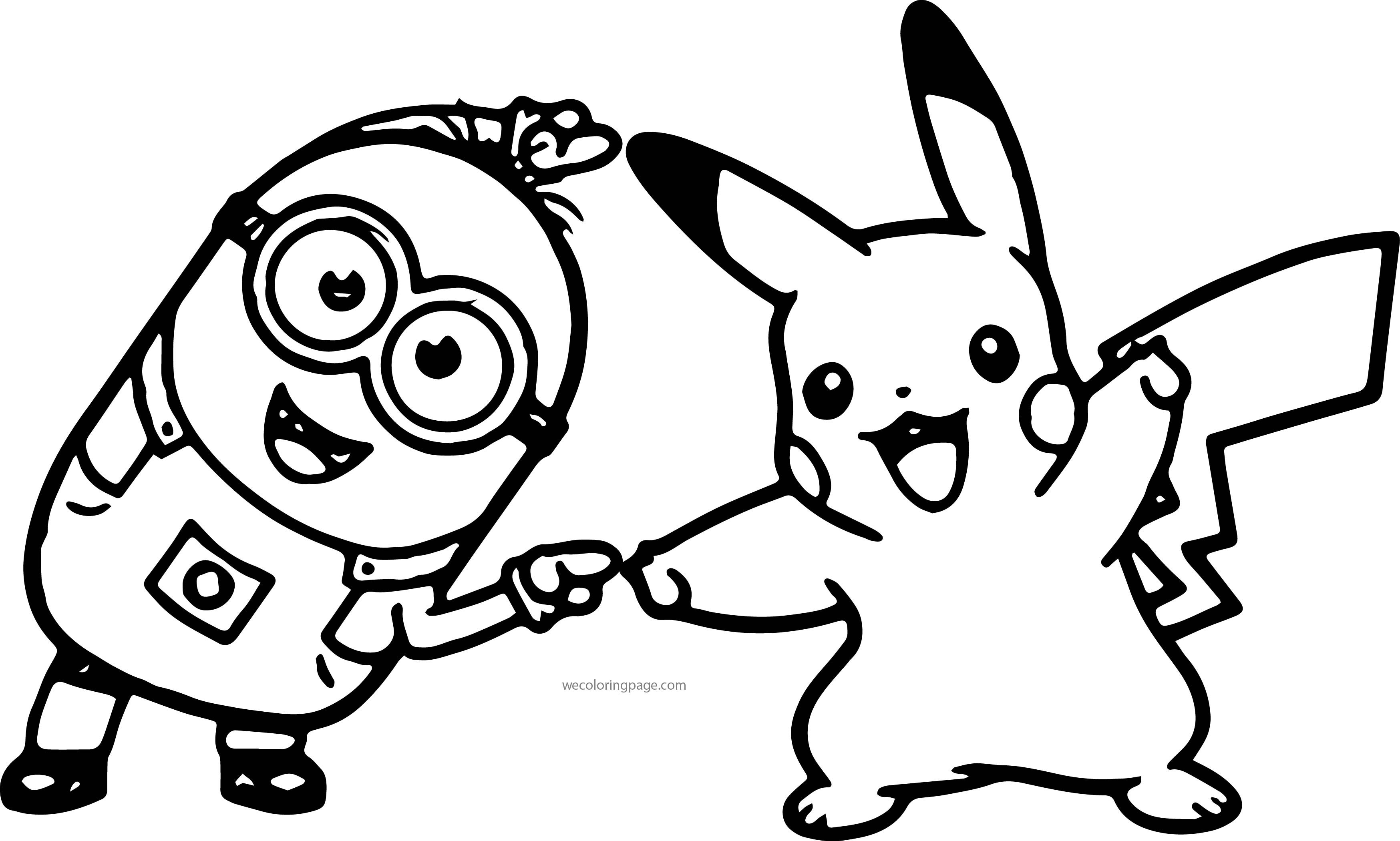Minion pikachu dance pokemon coloring page for Pikachu coloring page