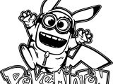 Minion Pikachu Pokeminion Coloring Page