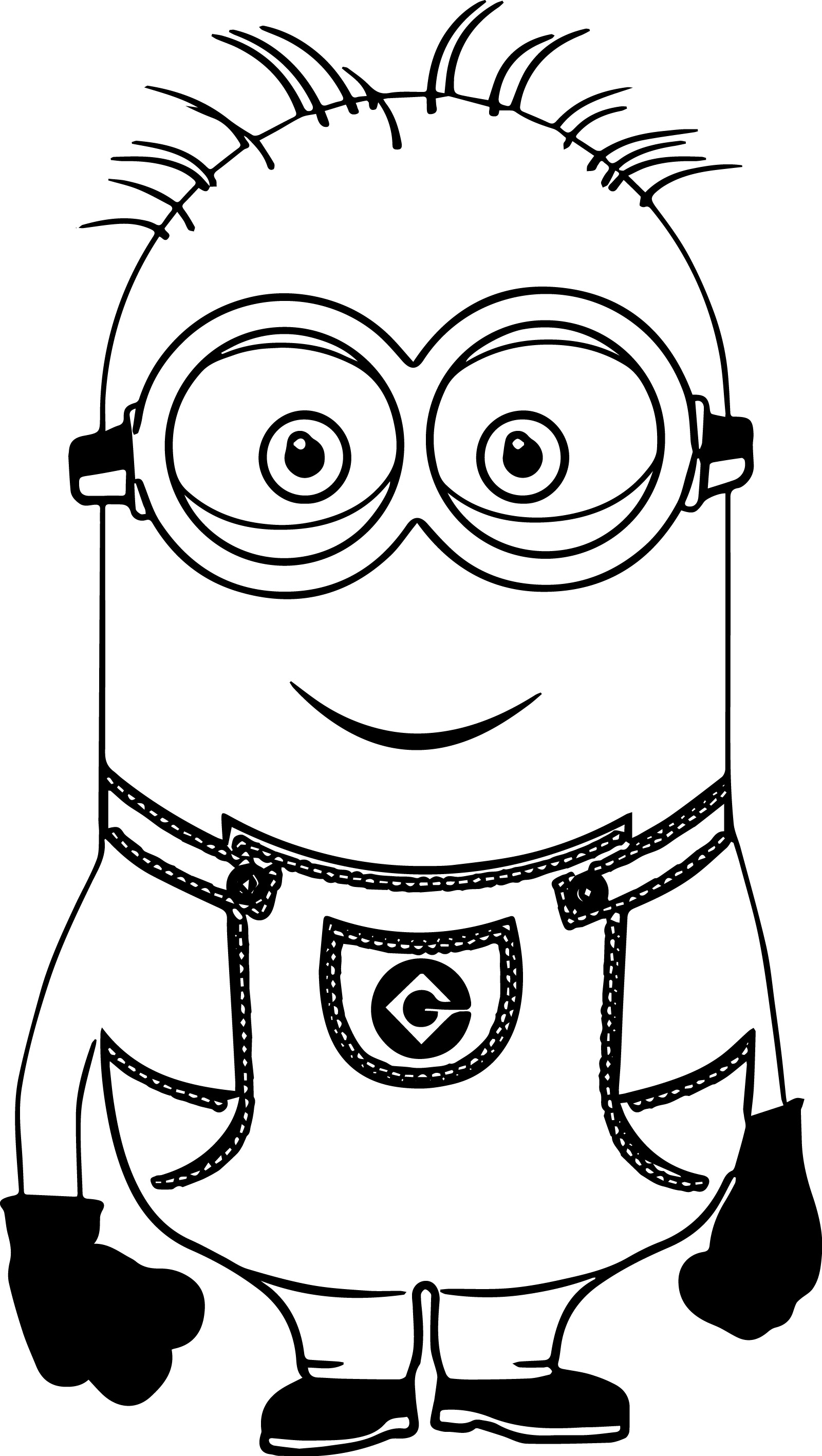 Minion Smile Coloring Page