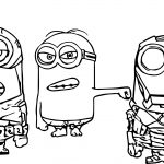 Minion Super Heroes Coloring Page
