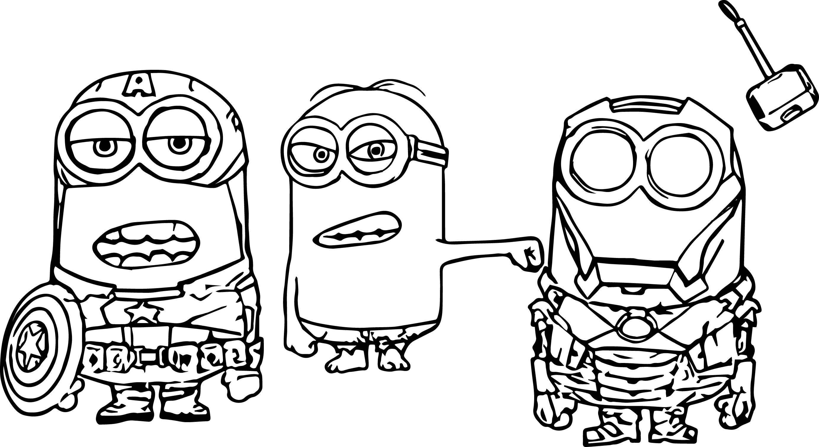 Super Hero Coloring Pages Stunning Minion Super Heroes Coloring Page  Wecoloringpage Inspiration Design