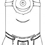 Minion Tall Coloring Pages
