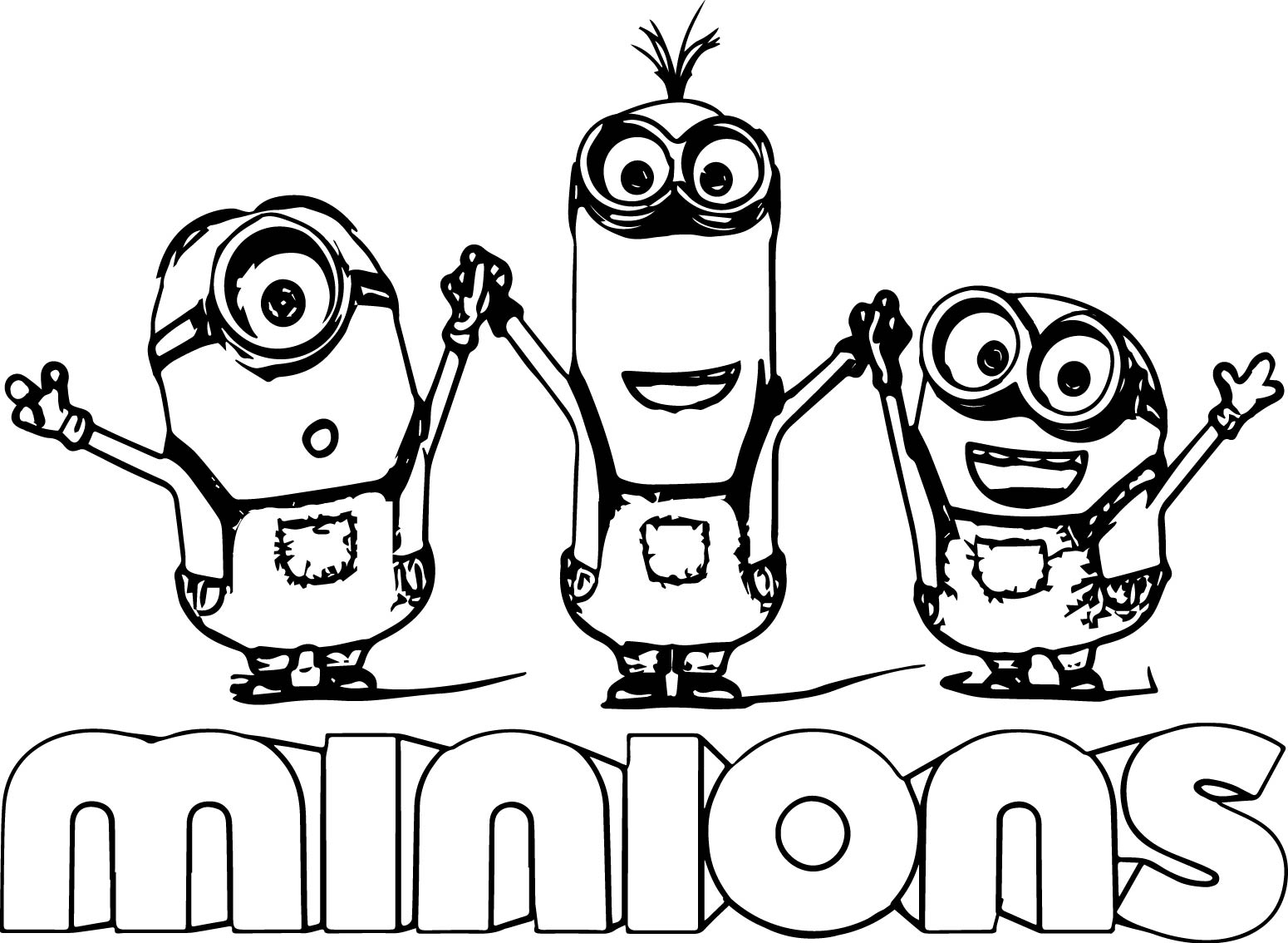 Minions coloring pages peace minion ~ Minion Text Minions Backyard Bash Coloring Page ...