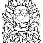 Minion Throne Banana Meditation Coloring Page