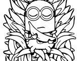 Minion Throne Banana Meditation Coloring Page