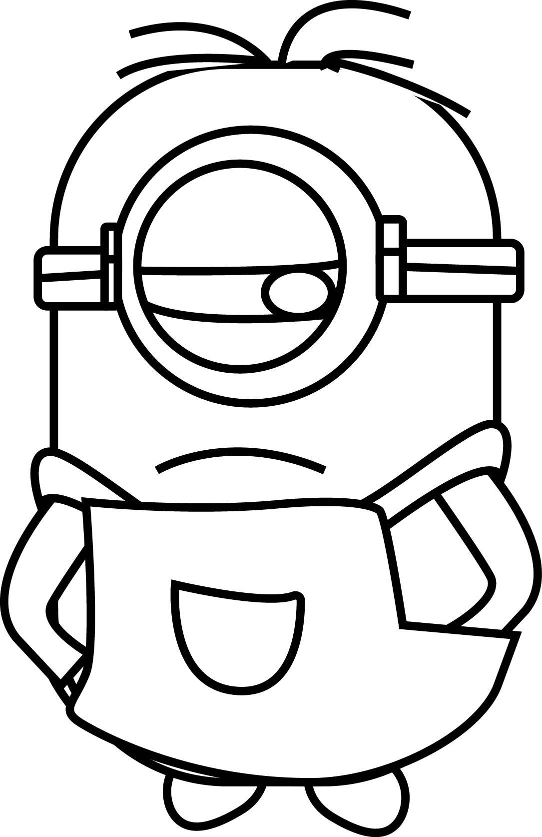 Minion To Sulk Coloring Page