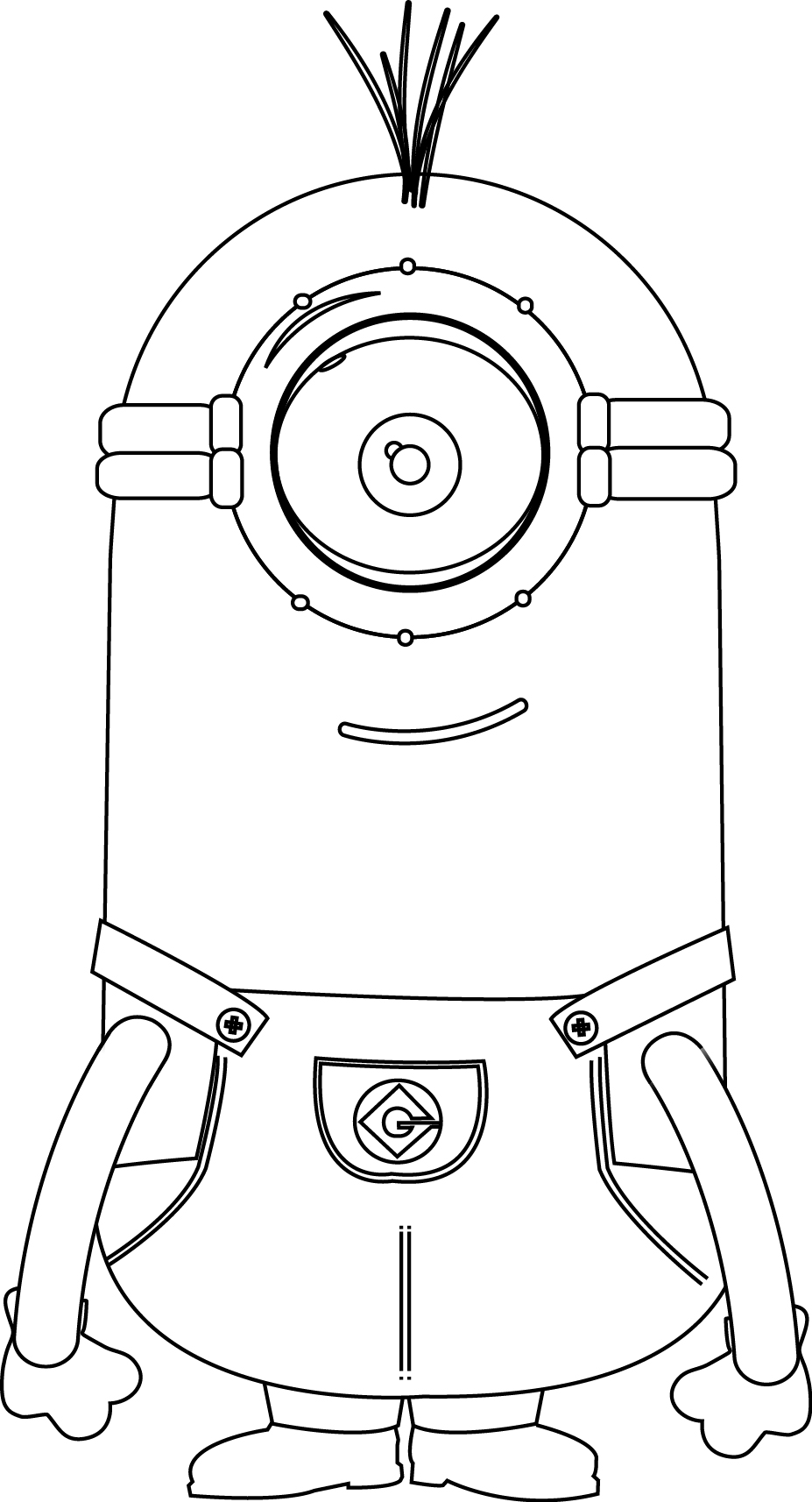 Minions Basic And Perfect Coloring Page