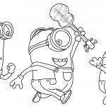 Minions Catch Coloring Page