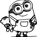 Minions Character Cute Coloring Page