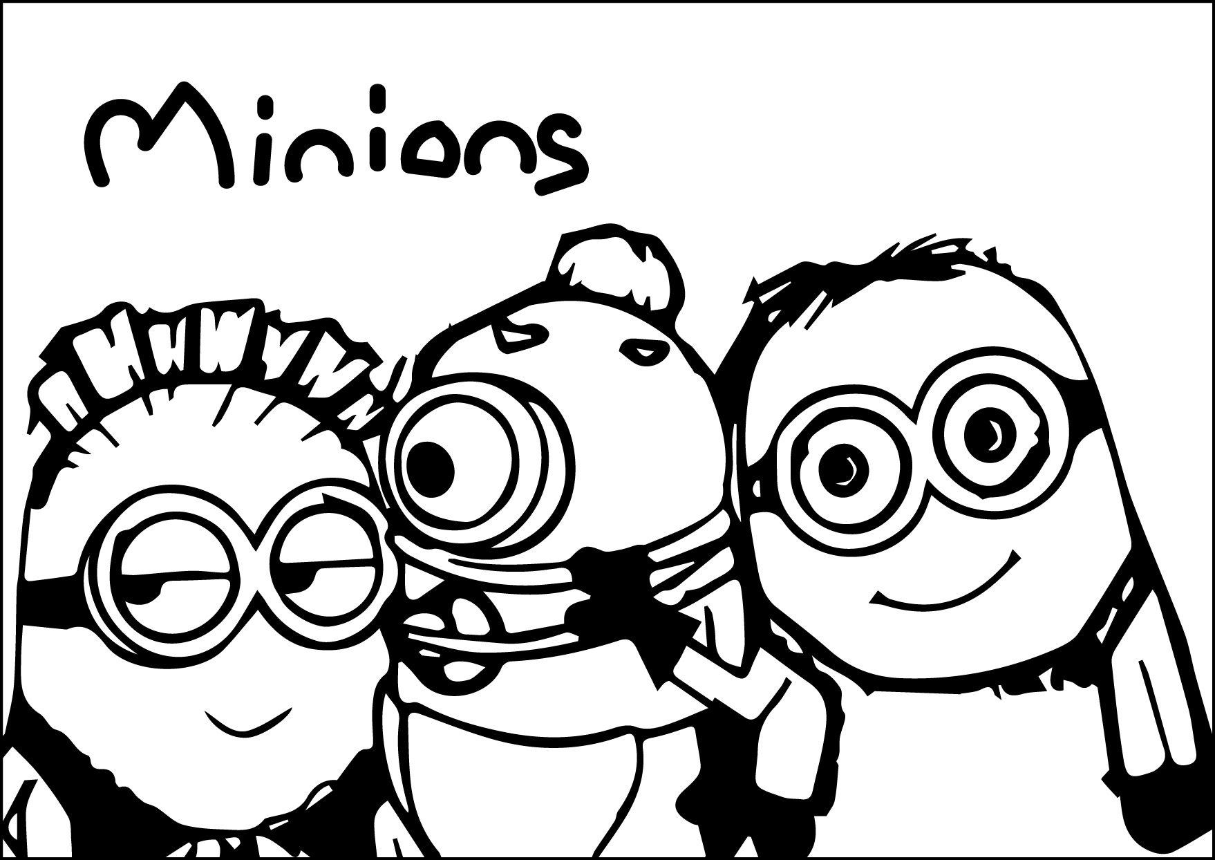 Minions Child Adorable Coloring Page