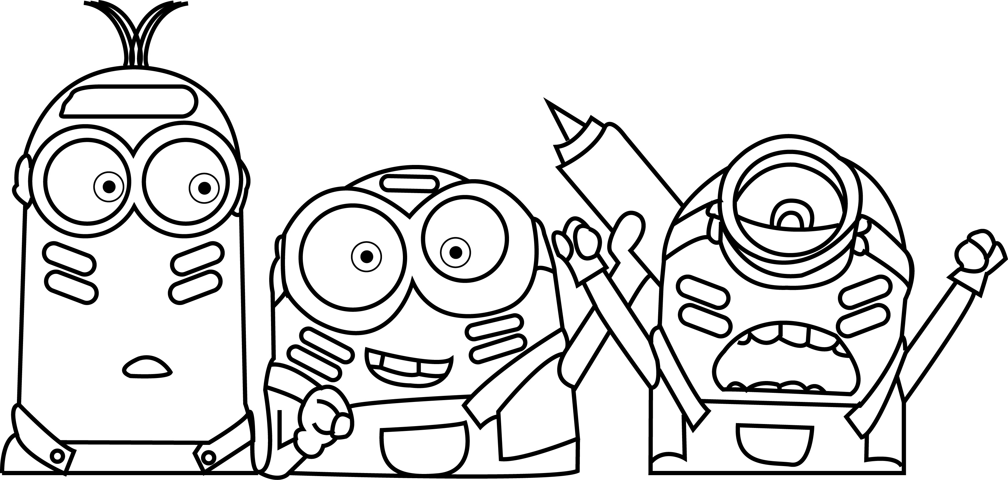 Minion coloring page images - Minions Color War Coloring Page