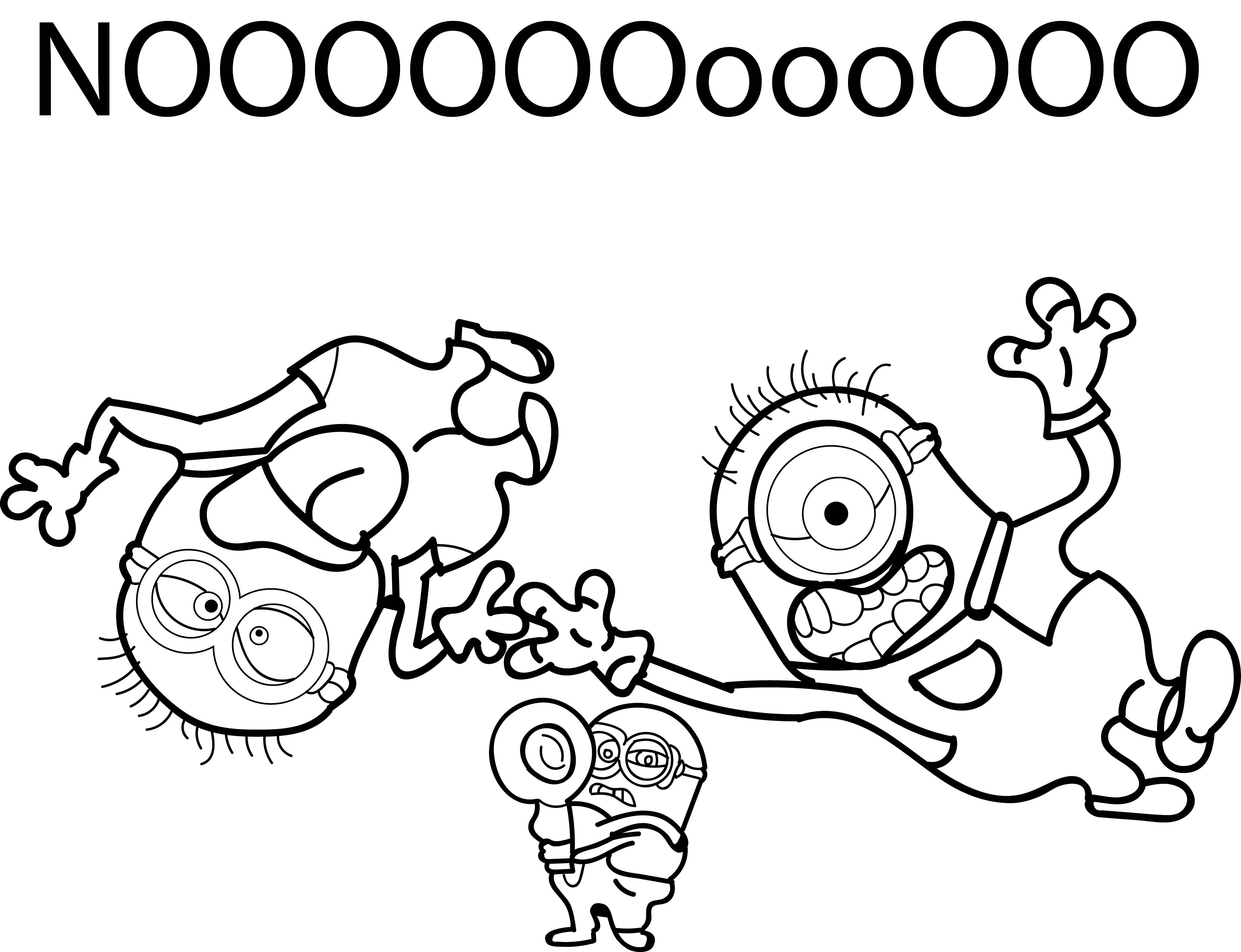 Minions despicable me 2 noooo coloring page for Despicable me 2 coloring pages