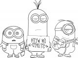 Minions I Am With Stupid Coloring Page MQ