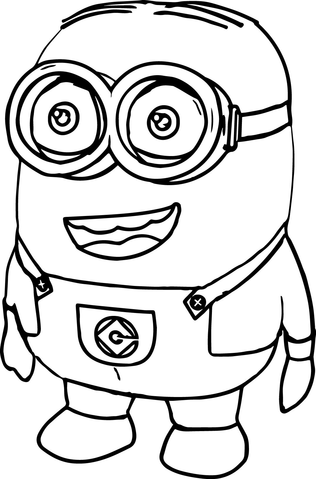 Minions Large Plush Style Coloring Page