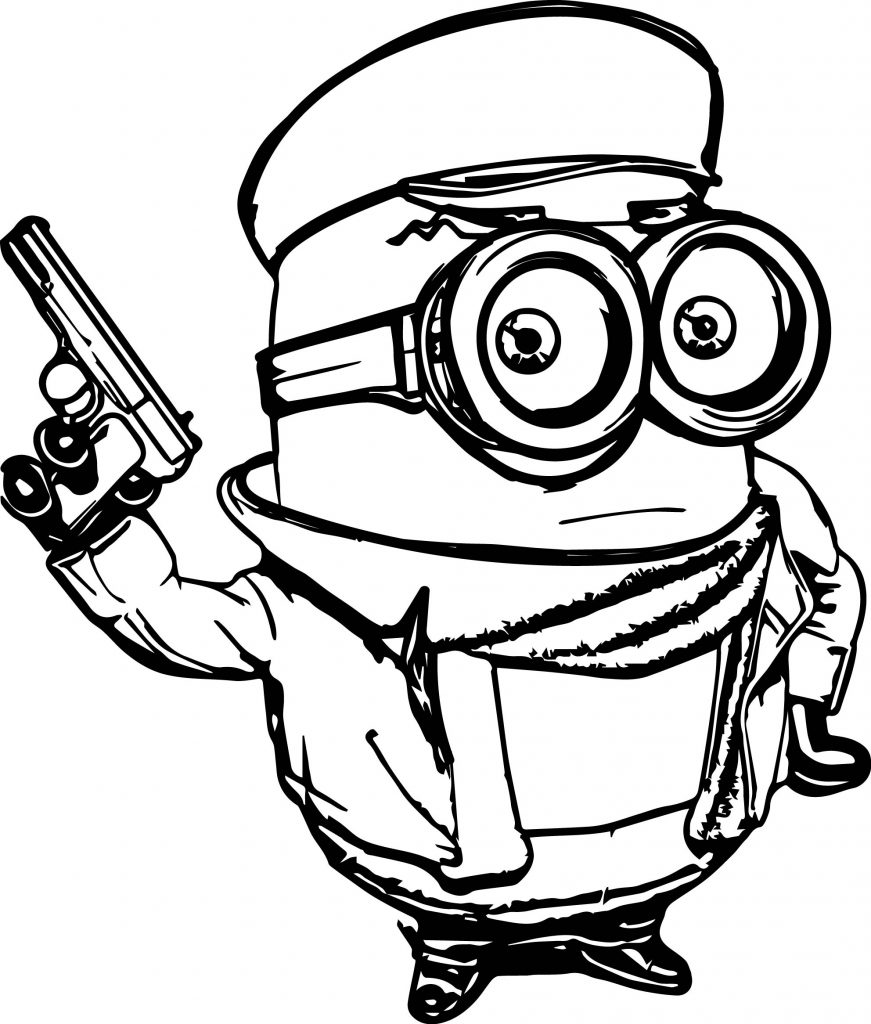 minion banana coloring pages - minions old mafia coloring page
