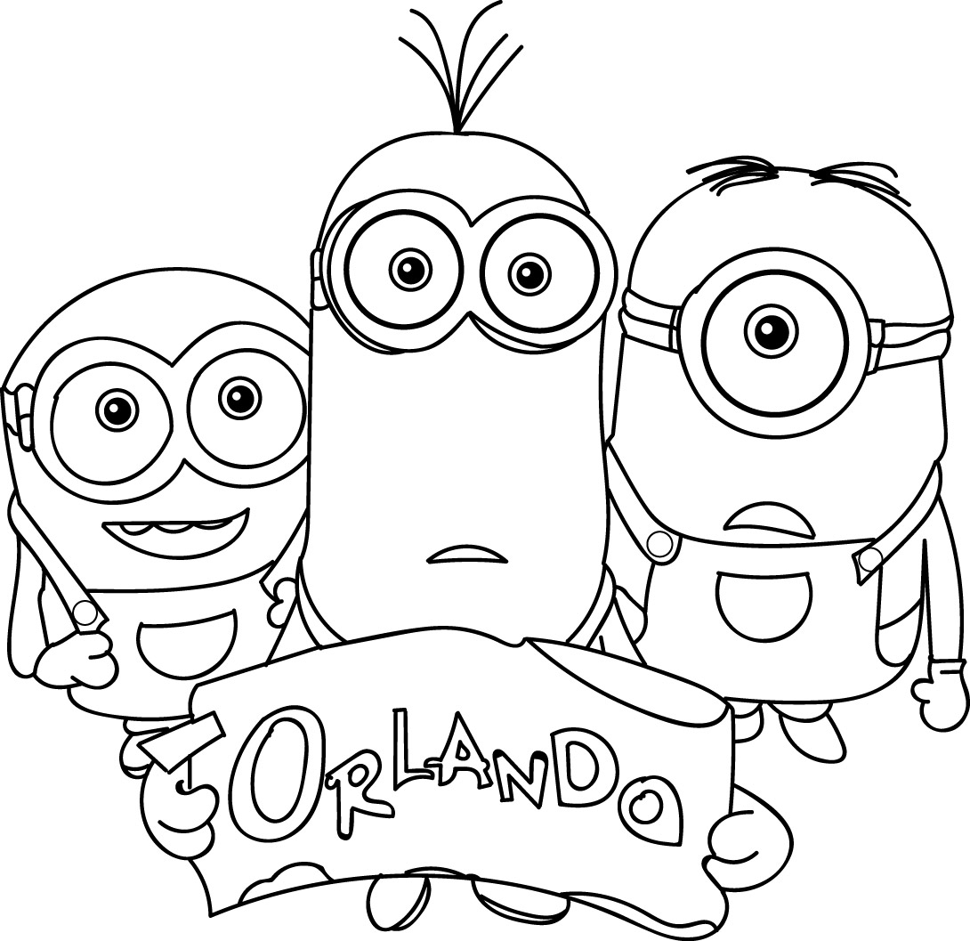 Minions orlando coloring page for Coloring pages to print minions