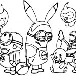 Minions Pokemon Family Coloring Page