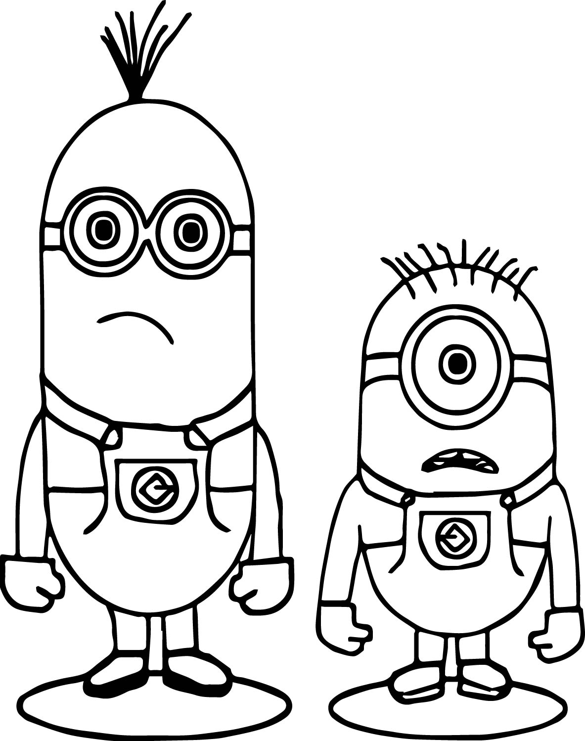 Minions Shocking Coloring Page