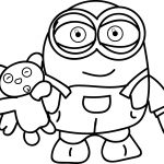 Minions Toy At Hand Coloring Page