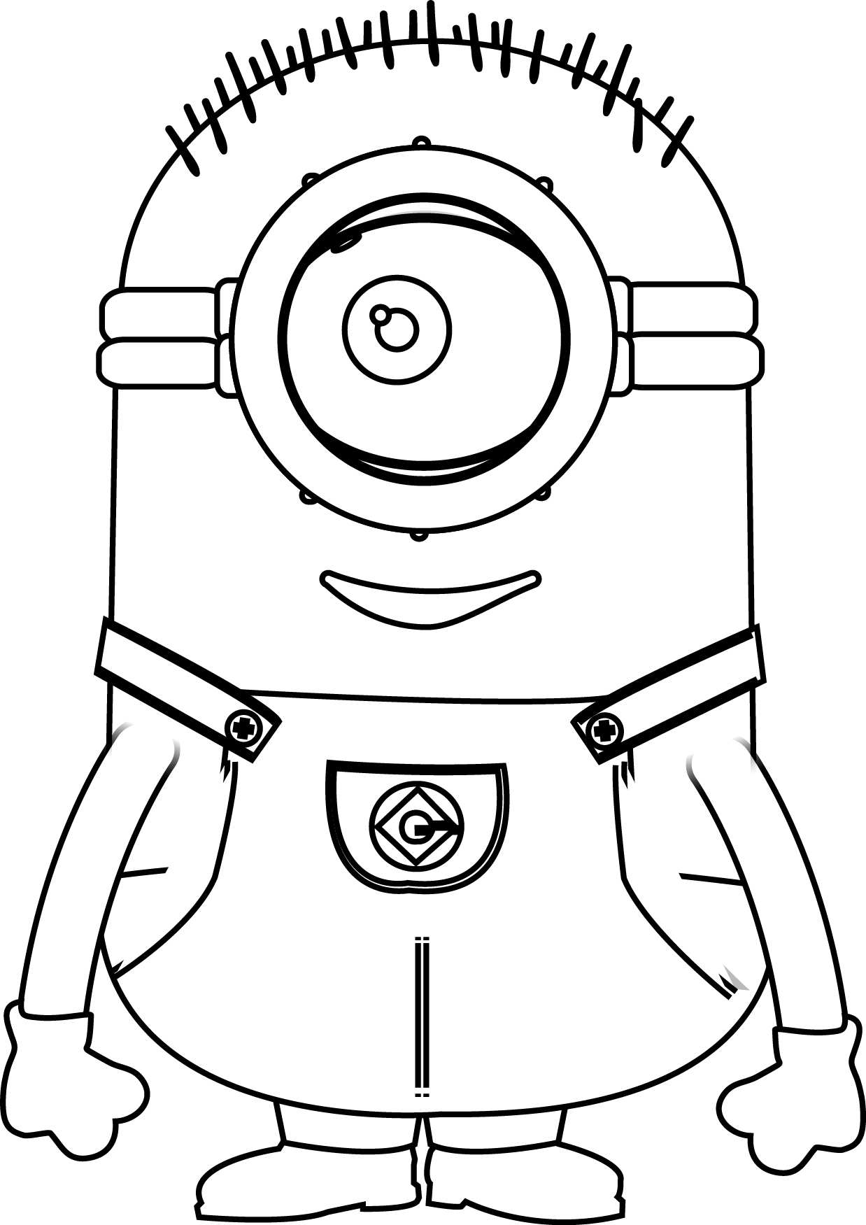 Minions Very Cute Goodness Coloring Page