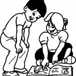 Morale Looking Book Kids Coloring Page