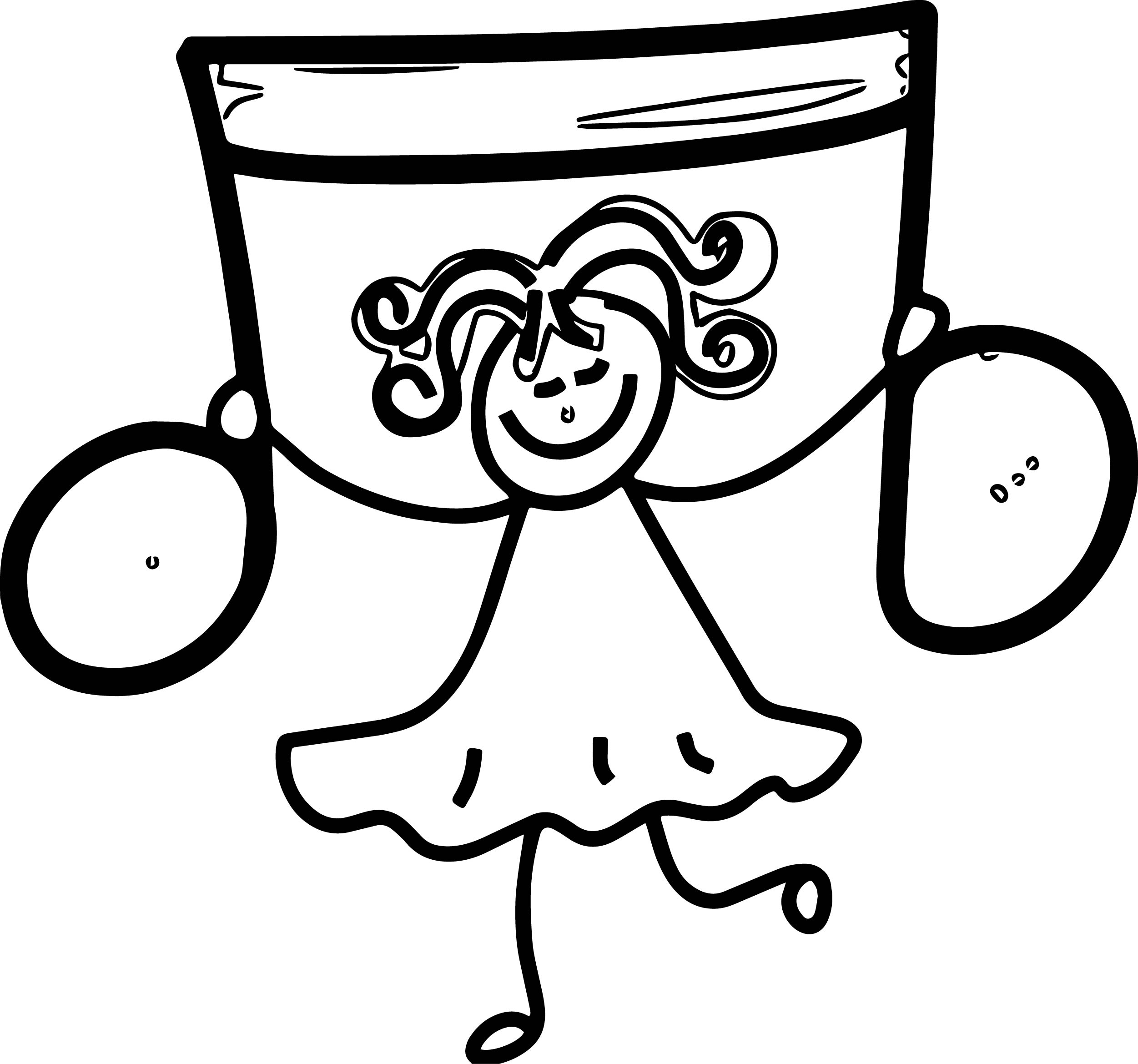Music Girl Coloring Page