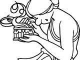 Mythology Pandoras Coloring Page