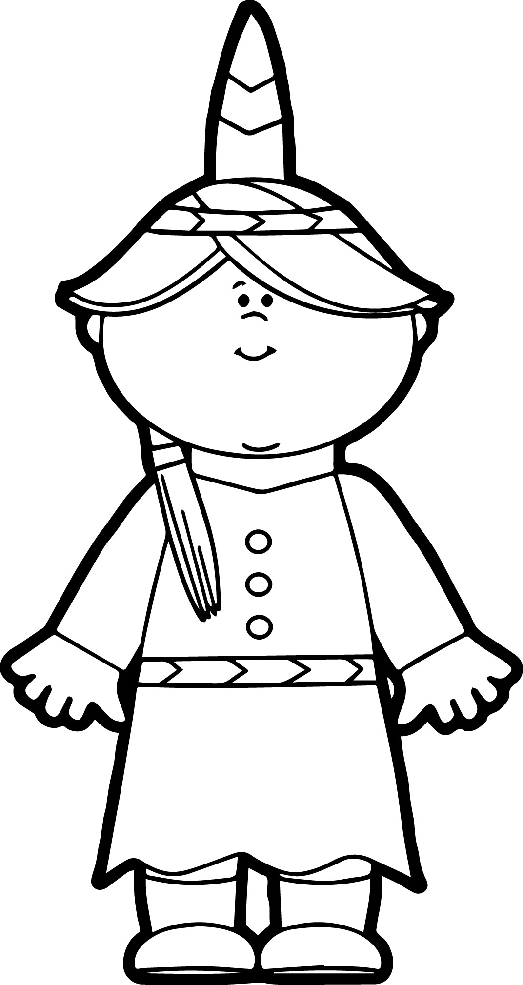 Native American Indian Girl Coloring Page