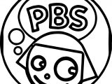 PBS Kids Dot Girl Circle Coloring Page