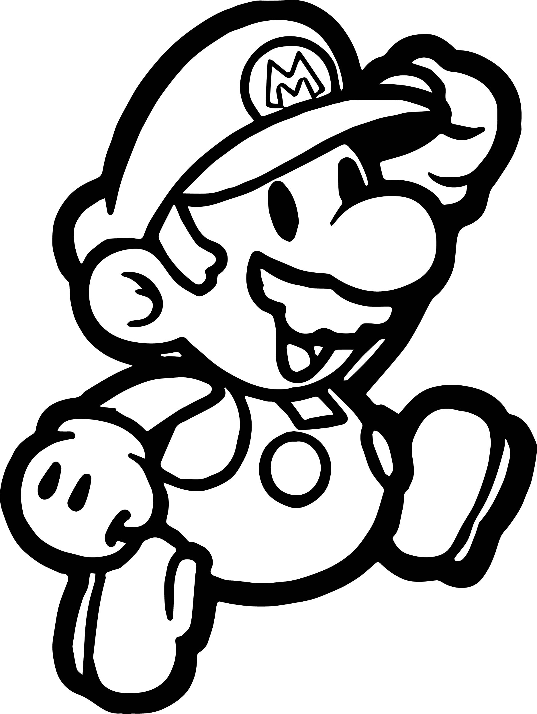 paper mario coloring pages - photo#6