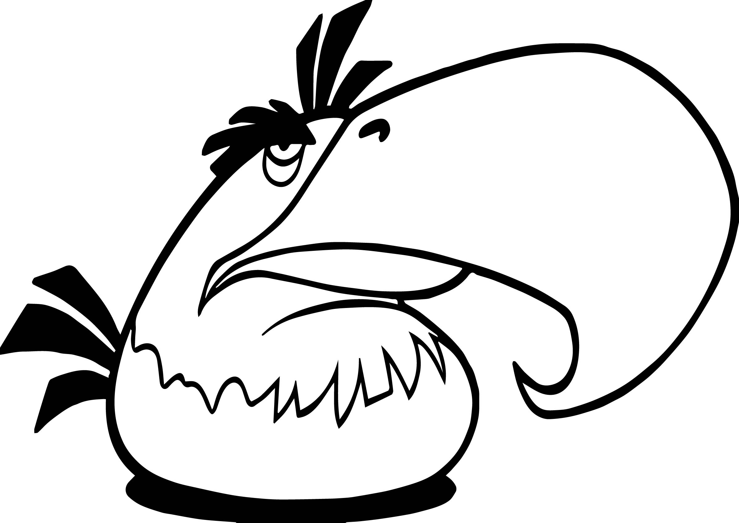 Parrot Angry Birds Coloring Page