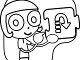 Pbs Kids Girl Arrow Coloring Page