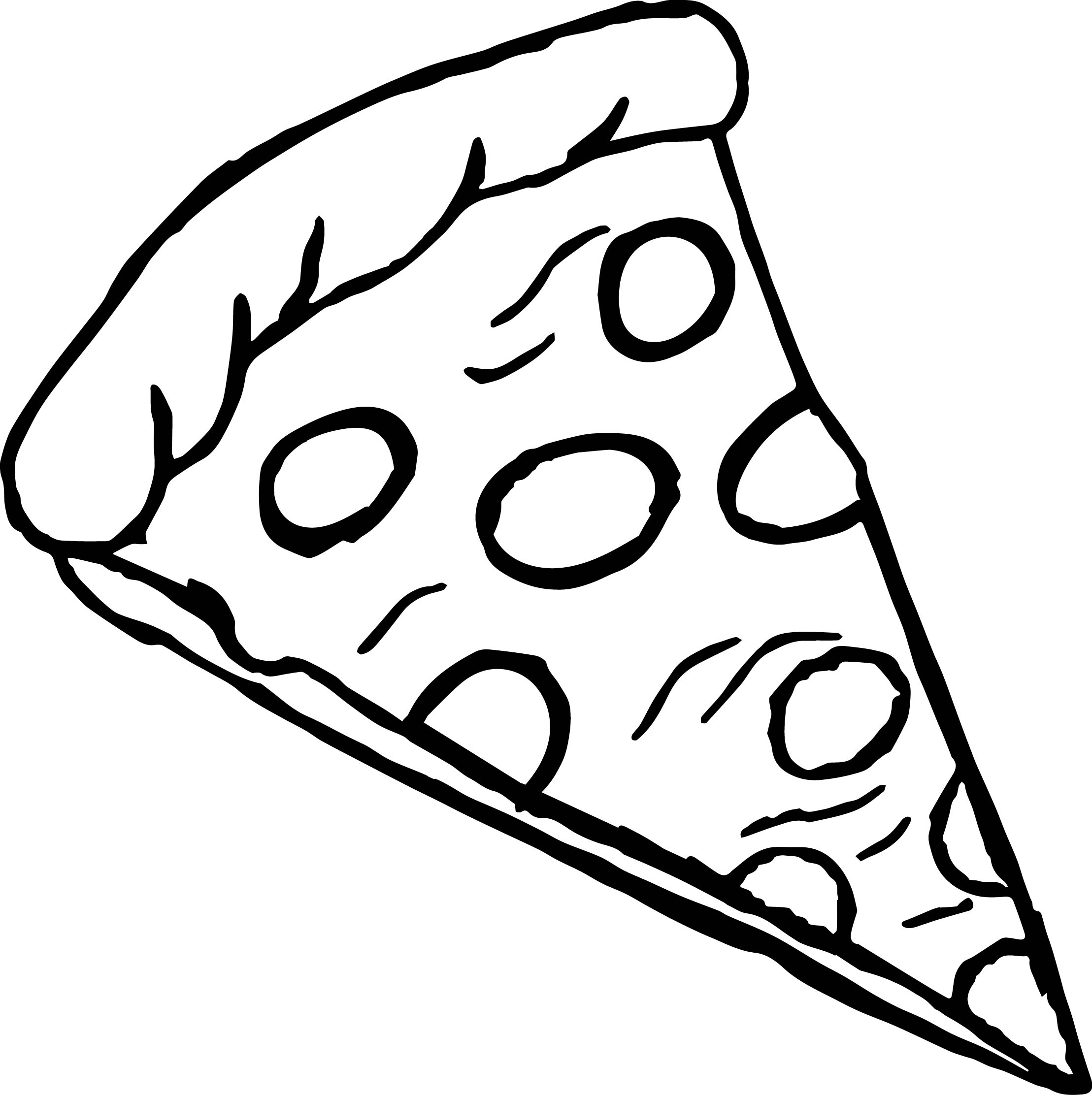 Pepperoni Pizza Coloring Page