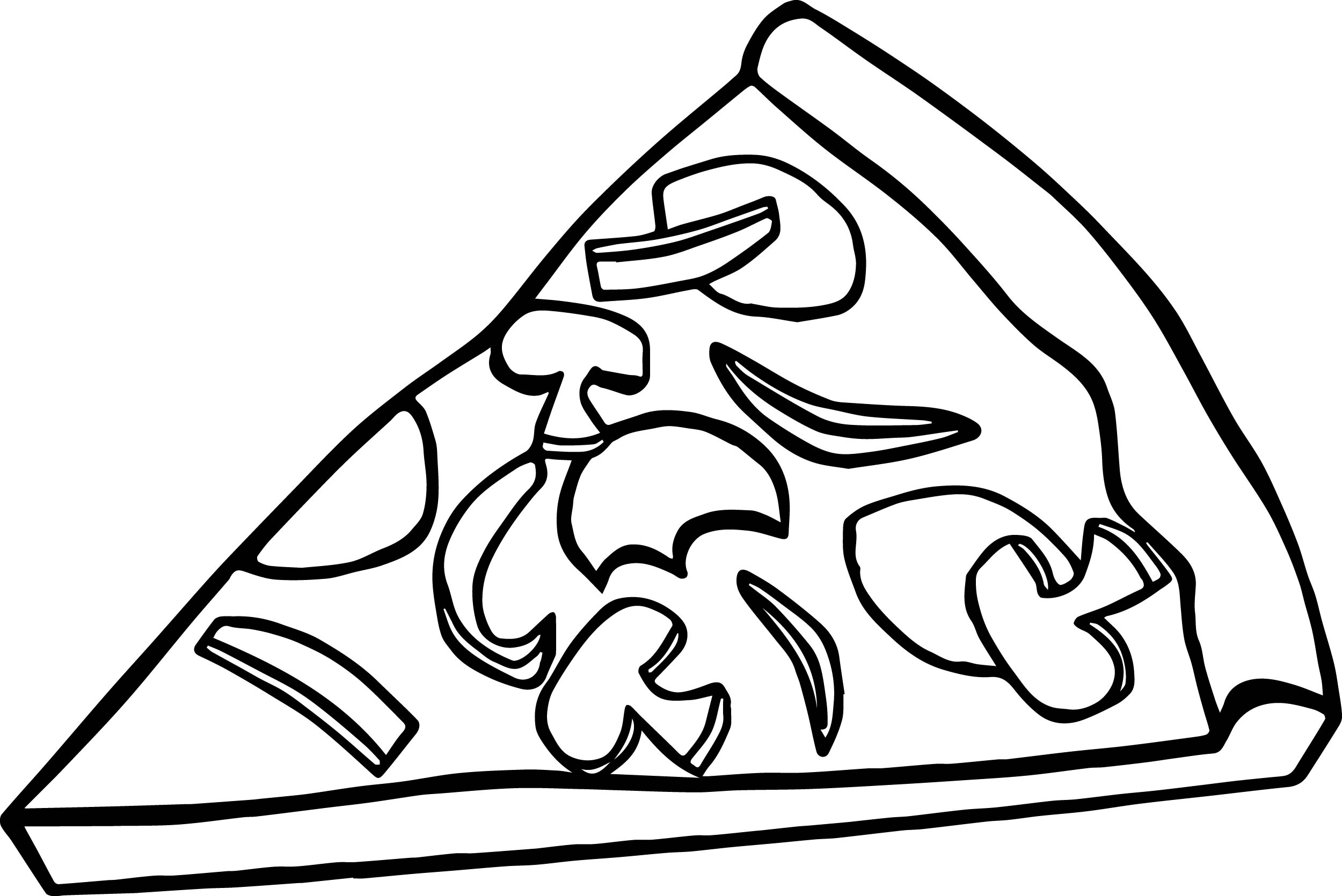 Pepperoni Pizza Slice Coloring Page