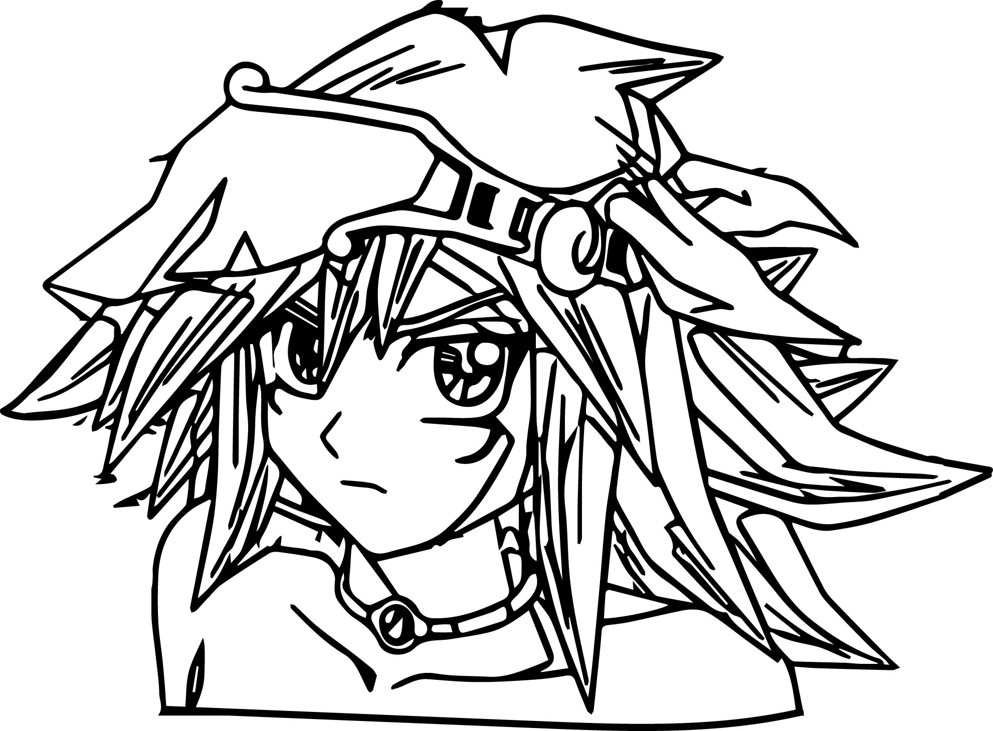 Perfect Yu Gi Oh (Yugioh) Coloring Page