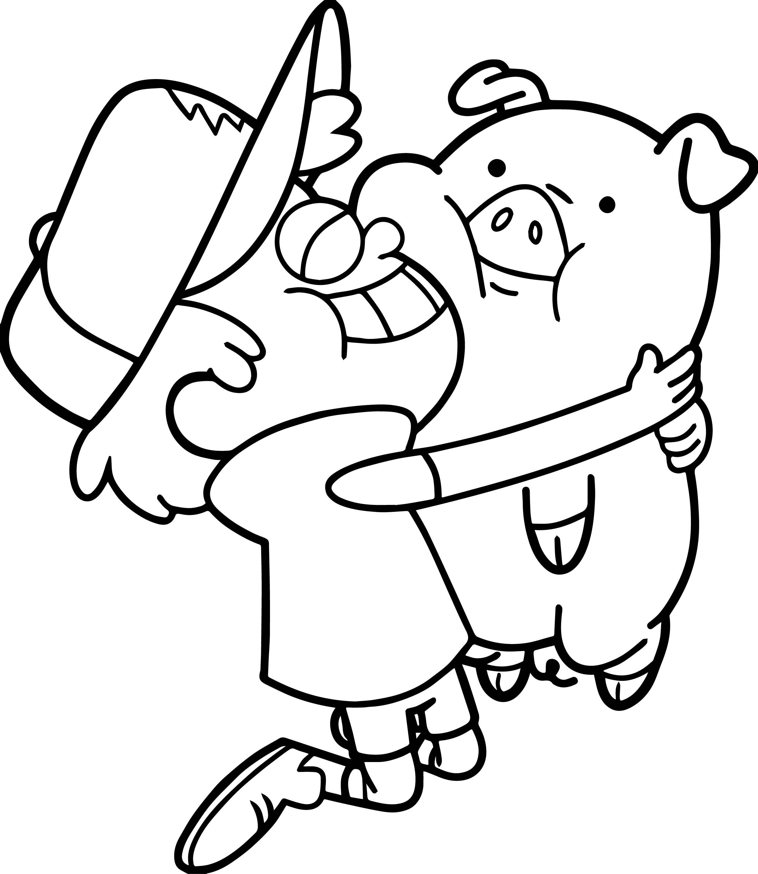 Pig My Best Friends Coloring Page | Wecoloringpage.com