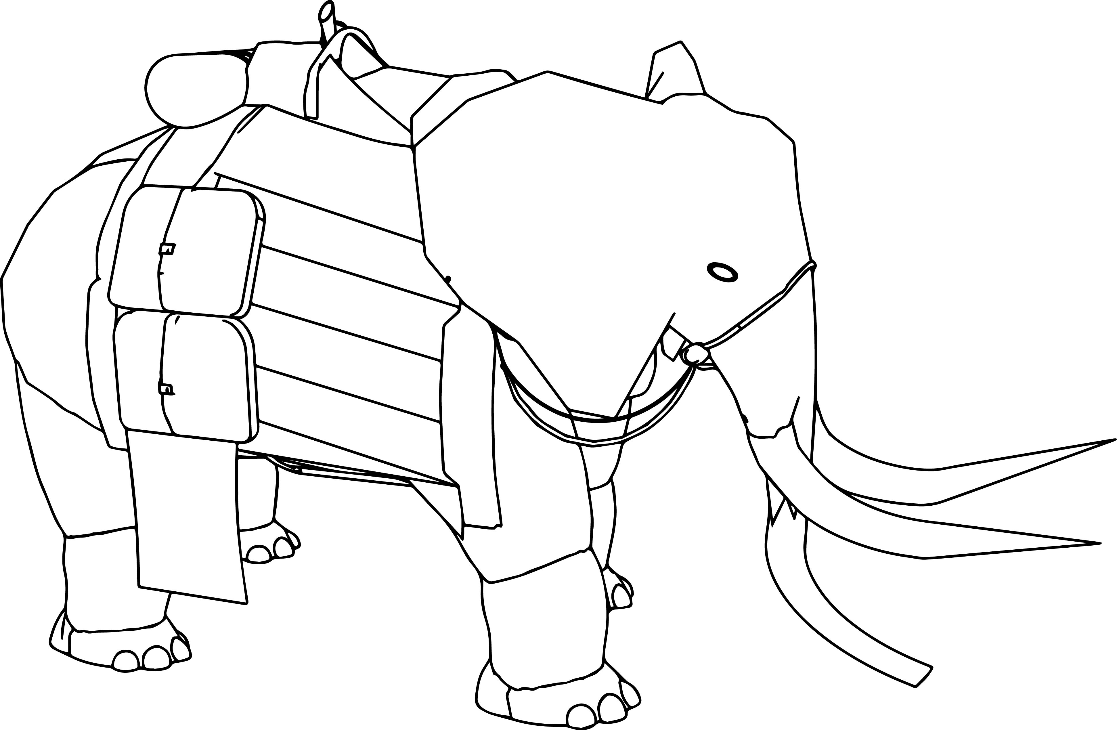 Pilgrim Elephant Coloring Page