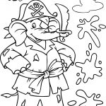 Pirate Elephant Coloring Page