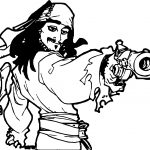 Pirates of the Caribbean Man Character Jack Sparrow Are You Sure Coloring Page