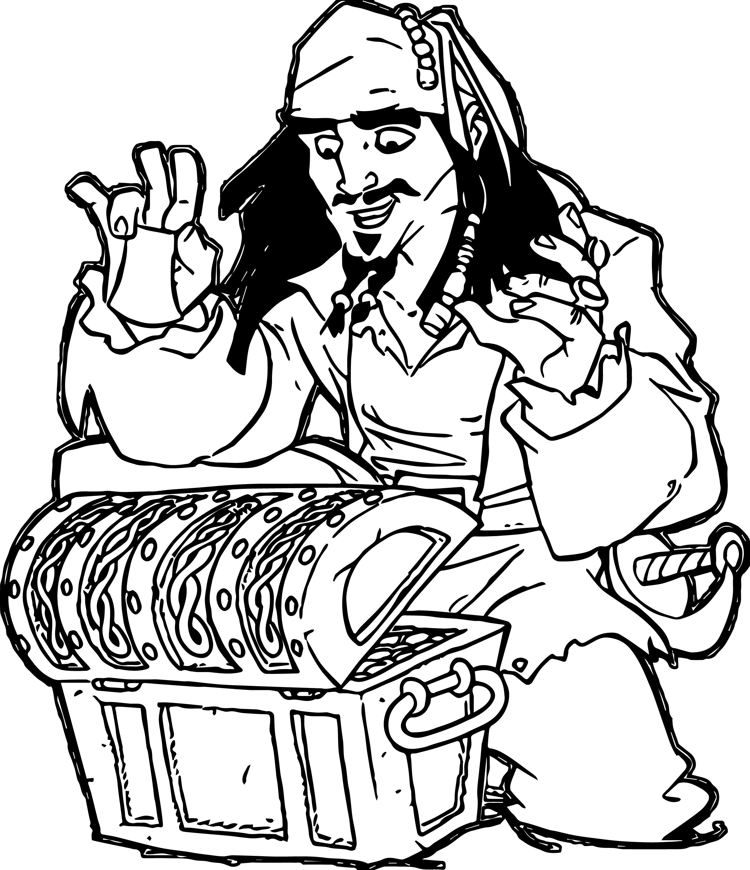 coloring pages jack sparrow - photo#25