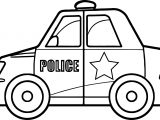 Super Police Car Coloring Page