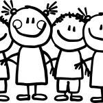 Preschool Kids Coloring Page