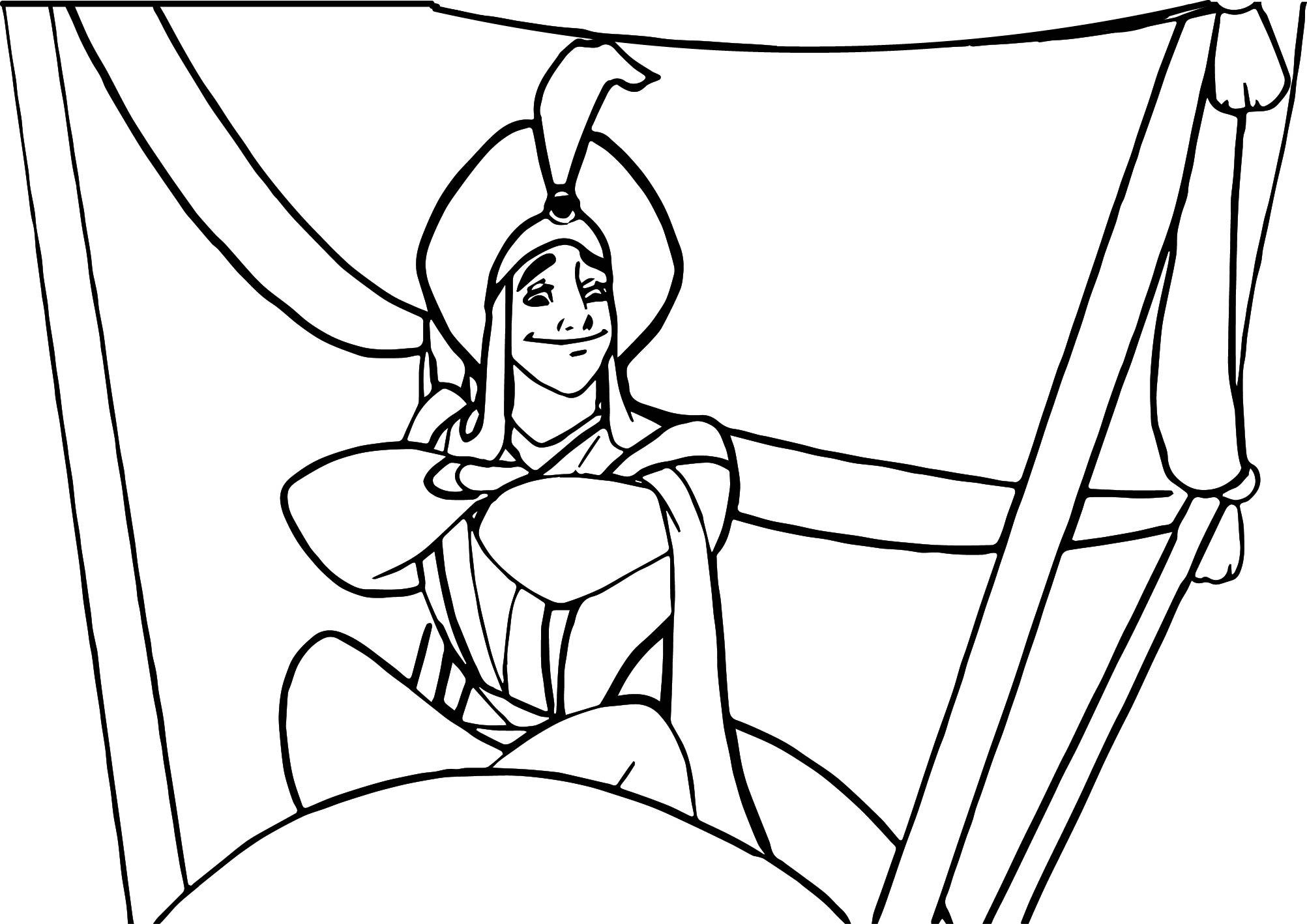prince aladdin disney prince coloring page wecoloringpage