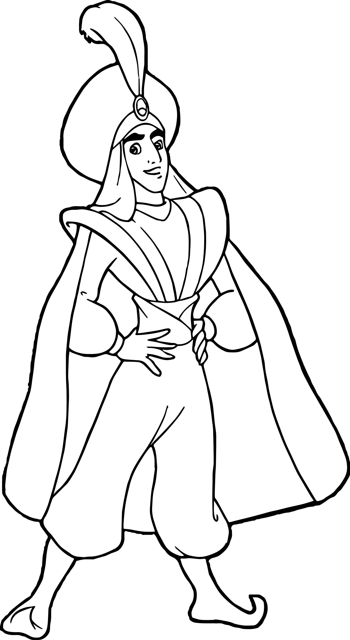 prince ali aladdin coloring page - Aladdin Coloring Pages
